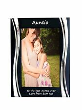 Auntie Black Metal 4 x 6 Frame - Personalise this frame - Free Engraving