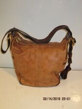 VALENTINA  ITALIAN Leather CAMEL COLOR CONVERTIBLE HANDBAG/BACKPACK-F/SHIP GREAT