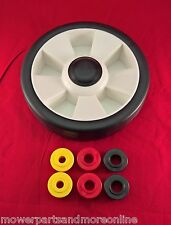 LAWN MOWER 8 INCH / 200mm WHEEL WITH 3 SET OF WHEEL BUSH'S  3/8, 1/2  AND 9/16