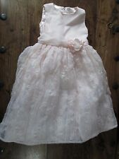 GIRLS PRINCESS CINDERELLA PALE PINK PEACH BEADED PARTY DRESS UP DRESS AGE 6