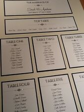 A3 personnalisé fait main style vintage art déco table mariage plan de cabine
