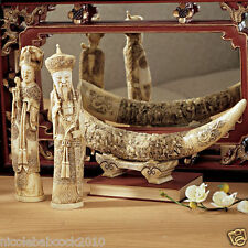 SET OF 3 (北方话; běifānghuà ASIAN CHINESE MANDARIN ROYAL COUPLE FX IVORY SCULPTURE