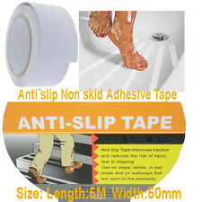 50mm Anti slip Non skid Adhesive Tape Stair Step Floor Safety White 1 Roll 5m(L)