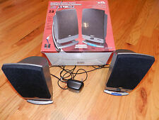 CYBER ACOUSTICS 2.0 Speaker system (Computer, Games, MP-3 & Audio) Great Cond