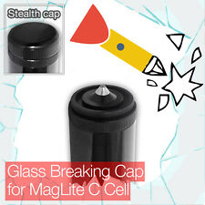 Stealthy Glass Breaking End Tail Cap for MagLite C Cell Torch flashlight