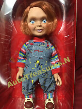 "Talking Child's Play Happy Chucky Good Guy 15"" Mezco Mega Doll Figure Halloween"