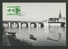 NIEDERLANDE MK 1968 BRÜCKEN MAASTRICHT BRIDGE CARTE MAXIMUM CARD MC CM d5760