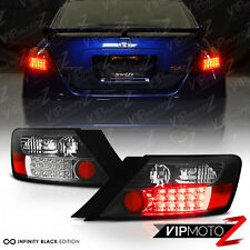 2006-2011 Honda Civic 2D Coupe FG Black L+R LED Rear Brake Taillight Signal Lamp