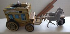 TIN FRICTION SANTA FE STAGE COACH TOY