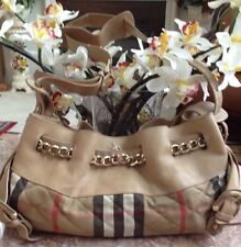 Burberry Quilted Check/Leather/Chain Shoulder Handbag Italy Made- ITTIVGRO58CAL