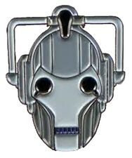 Metal Enamel Pin Badge Brooch Who Doctor Dr Hoo Cyberman Cyber Man Face Head