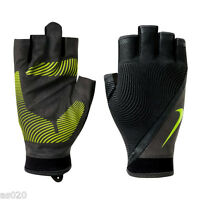 NEW Nike Mens Havoc Fingerless Sports Weight Lifting Gym Training Gloves - Black