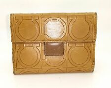 Authentic Vintage Salvatore Ferragamo Logo Bi fold Id Credit Card Holder Wallet