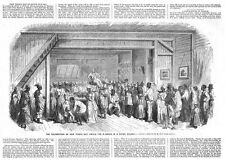 GUYANA Negros in a Dutch Colony Celebrating New Years Day - Antique Print 1860