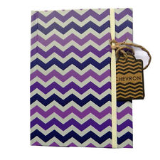 "A6+ Quality Notebook - ""Purple Chevron"" - Casebound - 160 Pages - 151 x 113mm"