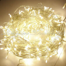 Warm White 100 LEDs 12.8M Fairy String Lights Christmas Tree Xmas Party Wedding