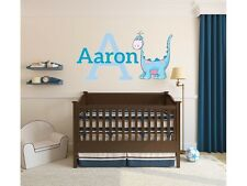"Boys Dinosaur Name Monogram Wall Decal #8 Nursery Room Kids Vinyl Wall 18"" Tall"