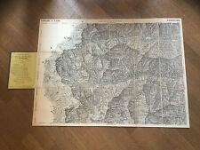 1870-SAMPEYRE-QUADRO D'UNIONE DELLA GRAN CARTA DEGLI STATI SARDI IN TERRAFERMA