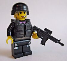 Lego Custom FEMALE SWAT COMMANDO Minifigure BrickArms Brickforge Military Police