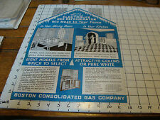Original Vintage Paper: electrolux gas refrigerator in HOUSE SHAPE --EARLY
