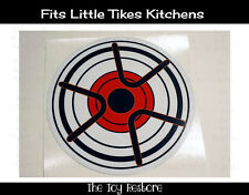 Replacement Decal Sticker fits Little Tikes Kitchen Burner Element Stovetop C