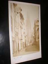Cdv old photograph street view by Willard at Quimper France c1870s