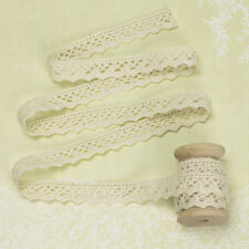 2 Yards - Ivory Cotton Lace Trim Fabric Bridal Wedding Dress Scrapbook Crafts L7