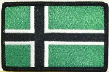 VINLAND NORWAY Flag Iron-On Tactical Morale Patch Black Border #18
