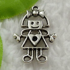 Free Ship 160 pieces tibet silver girl charms 28x18mm #1572
