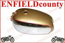 NEW 1950 BSA GOLDEN FLASH A10 GOLDEN PAINT CHROME PLATED FUEL PETROL GAS TANK
