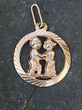 Anhänger Sternzeichen ZWILLINGE  Gold 585 Gelbgold