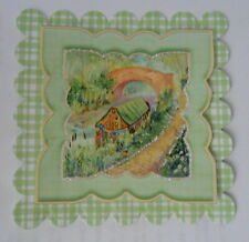 PK 2 BEAUTIFUL CANAL BOAT SCENE EMBELLISHMENT TOPPERS FOR CARDS OR CRAFTS