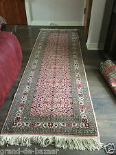 Oriental Turkish Hand Made Carpet /Rug Pink Colour Wool & Cotton Kayseri