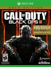 NEW Call of Duty Black Ops III 3 Gold Edition Xbox One 2016 $15 DLC Pack Zombies