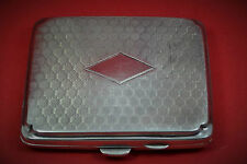 vintage Mans Art Deco sterling silver cigarette case  cushion shape J.G Ltd 1924
