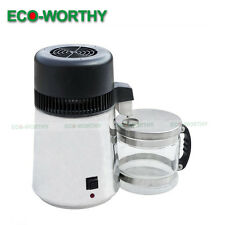ECO Water Distiller 4L Stainless Steel Pure Water Purifier Filter With Glass Jar