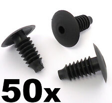 50x Audi Plastic Trim Clips- Bung Interior Door Boot Lining Roof Carpet Panels