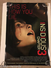 Insidious Chapter 3 Original Theater Movie Poster One Sheet DS 27x40 2