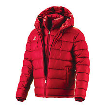 Double Layer Hip Length Down Wellon Winter Jacket Parka Coat - Red - Small