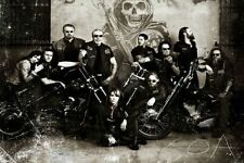 GQ12 SONS OF ANARCHY TV series wall Quality waterproof canvas Poster Decor