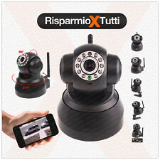 TELECAMERA IP CAMERA INFRAROSSI WIRELESS WIFI WI-FI CAM KIT VIDEOSORVEGLIANZA