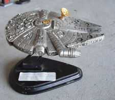 RARE Franklin Mint Pewter Star Wars Millennium Falcon with Stand LOOK
