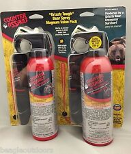NEW Counter Assault Bear Deterrent Pepper Spray Magnum Value 2-Pack w/Holsters
