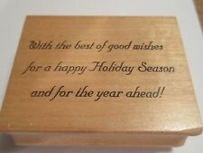 "Hooked on Stamps ""Christmas Card Greeting"" Wood Mounted Rubber Stamp,"