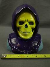 1984 Mattel He-Man MOTU Skeletor Bust Coin Still Piggy Bank w/ Bottom Plug