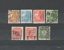 Q9481 - DANIMARCA 1926 - LOTTO USATI DIFFERENTI N°165/186 - VEDI FOTO