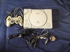 Tested SONY PLAYSTATION PS1 Console inc leads controller PAL+ 1 game Bratz