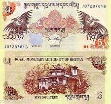 BHUTAN 5 Ngultrum Banknote World Paper Money UNC Currency BILL p28b 2011 Note