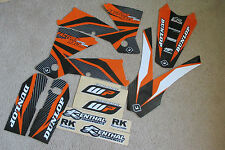 FLU DESIGNS TEAM  GRAPHICS  KTM  2003-2004 SX SXF &  2004 EXC EXCF MXC 125-520