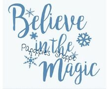 Stencil Believe in the Magic Snowflakes Winter Projects Christmas